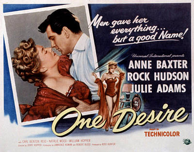 1955 Movies Photograph - One Desire, Anne Baxter, Rock Hudson by Everett