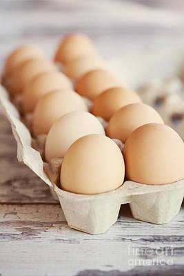 Dozen Photograph - One Dozen Eggs by Kim Fearheiley