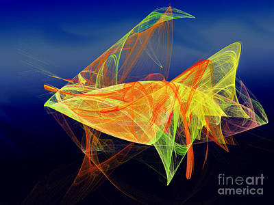 Digital Art - One Fish Rainbow Fish by Andee Design