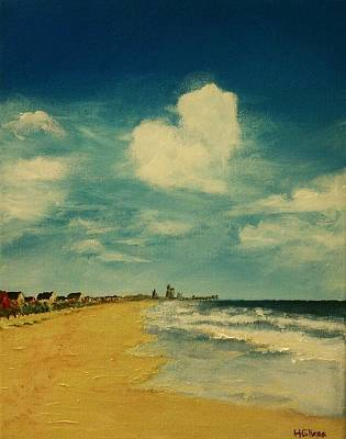 Family Beach Wedding Wall Art - Painting - One Heart Over The Beach by Heather  Gillmer