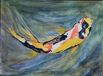 Painting - One Koi by Alethea McKee