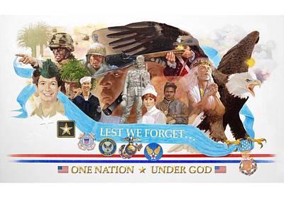 One Nation Under God Art Print by Chuck Hamrick