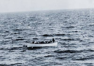 One Of The Titanic Lifeboats As Seen Art Print by Everett
