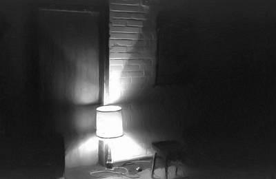 One Room One Light -- Ein Zimmer Ein Licht Art Print by Arthur V Kuhrmeier