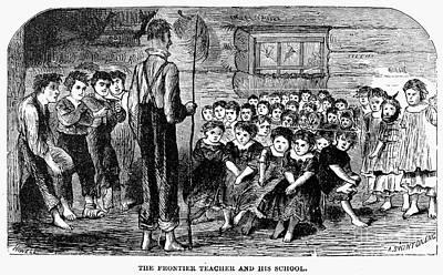 One-room Schoolhouse, 1883 Art Print by Granger