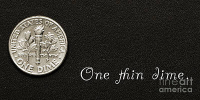 Photograph - One Thin Dime by Andee Design