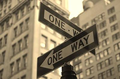 Photograph - One Way, Manhattan by Photo by Yohsuke Ikebuchi