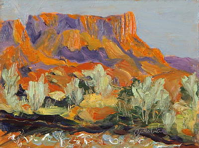 Painting - Onion Creek Fiesta Castle Valley Moab Utah by Zanobia Shalks