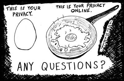Thedailydose.com Drawing - Online Privacy by Yasha Harari