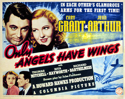 Only Angels Have Wings, Cary Grant Art Print