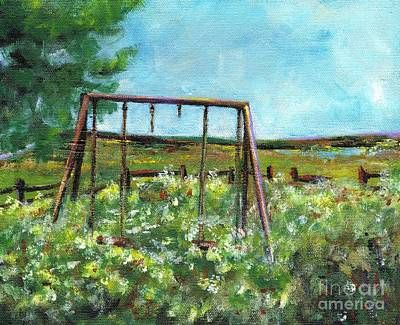 Swingset Painting - Only The Memories Remain by Frances Marino