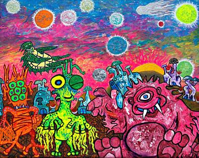 Intergalactic Painting - Oogley Eye by Marko Arias