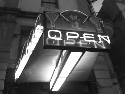 Photograph - Open For Business Bw by Marilyn Wilson