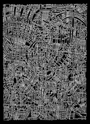 Filigree Drawing - Open Landscape 1 by Power City Images