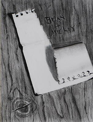 Drawing - Open Me by Brian Hustead