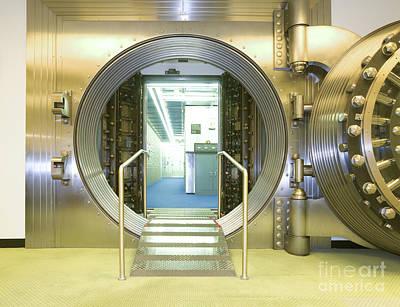 Open Vault At A Bank Art Print by Adam Crowley