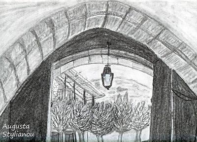 Opening Door To Light Art Print
