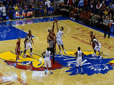 Photograph - Opening Tipoff by Keith Stokes