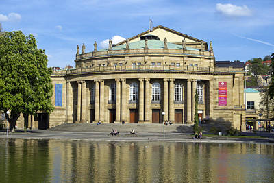 Photograph - Opera And Theater Building In Stuttgart Germany by Matthias Hauser