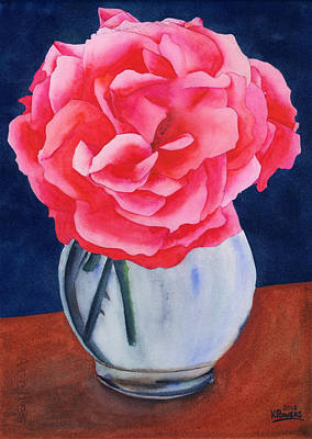 Painting - Opera Rose by Ken Powers