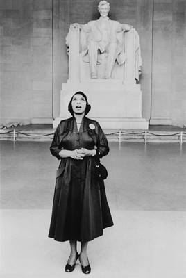 Marian Photograph - Opera Singer Marian Anderson Stands by Everett