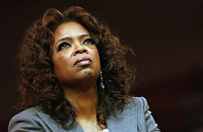 In Attendance Photograph - Oprah Winfrey In Attendance For Barack by Everett