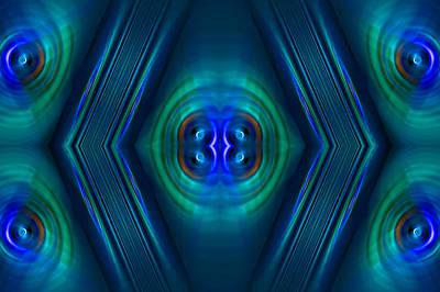 Optical Blue Art Print
