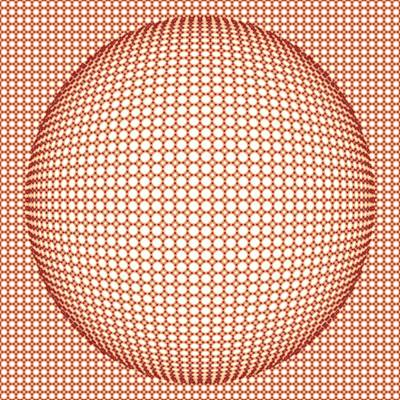 Optical Illusion Digital Art - Optical Illusion Orange Ball by Sumit Mehndiratta