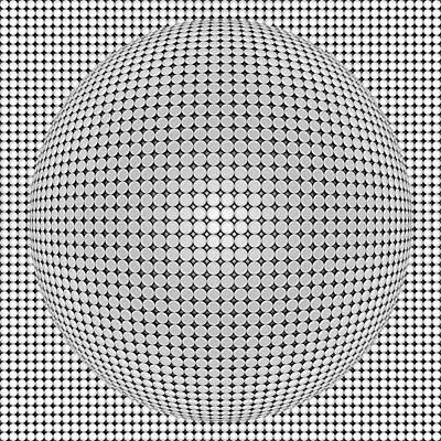 Digital Digital Art - Optical Illusion Plastic Ball by Sumit Mehndiratta