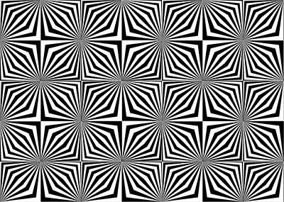 Optical Illusion Spots Or Stares Art Print