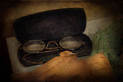Optometrist - Glasses For Reading  Print by Mike Savad