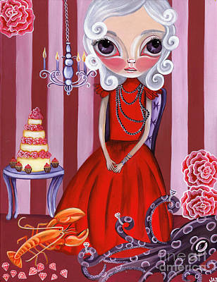 Pop Surrealism Painting - Opulent Olive by Jaz Higgins