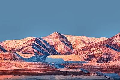 Snow Scape Photograph - Oquirrh Mountains Utah First Snow by Tracie Kaska