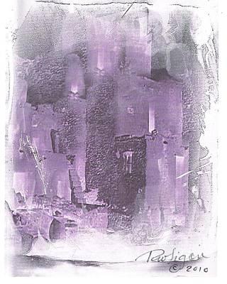 Ruins Mixed Media - Oraibi by Wayne  Ligon