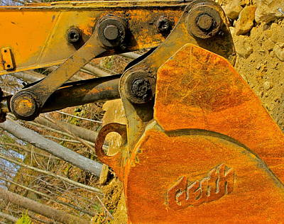 Photograph - Orange Abstract Composition by Cliff Spohn