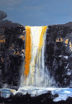 Orange Cascade Art Print by Rob Heath