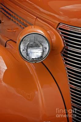 Orange Chevrolet Art Print