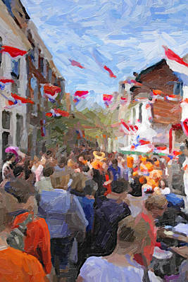Orange Day Party Art Print by Martin  Fry