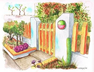 Venice Beach Painting - Orange Door In Venice Beach - California by Carlos G Groppa