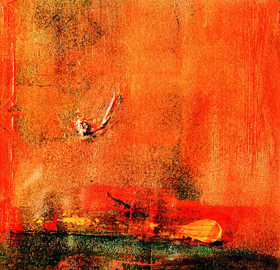 Art Print featuring the painting Orange Glow by Carolyn Repka