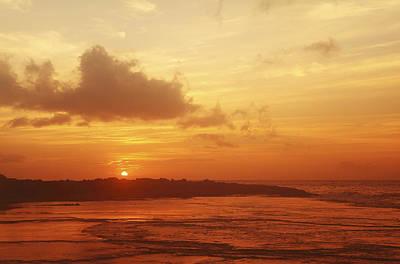 Orange Hawaiian Sunset Art Print