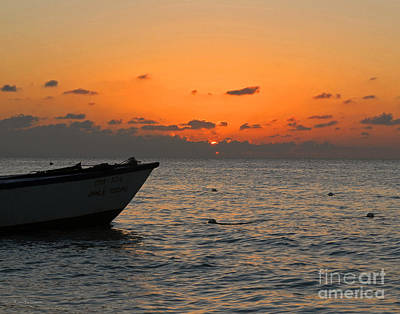 Jamaican Sunset Photograph - Orange Jamaican Sunset by Nature Scapes Fine Art