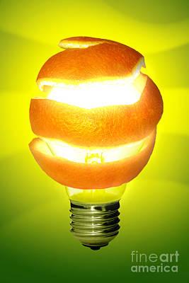 Orange Lamp Art Print by Carlos Caetano