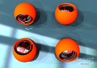 Orange Orbs Hdri Art Print