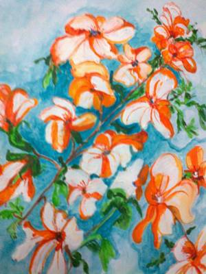 Painting - Orange Orchids by Seema Sharma