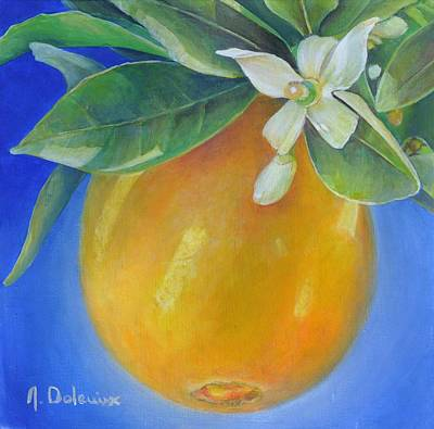 Painting - Orange Outremer by Muriel Dolemieux