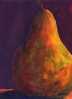 Orange Pear Art Print by Rosie Phillips