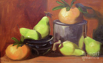 Painting - Orange Pears by Lilibeth Andre