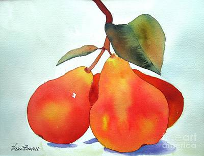 Painting - Orange Pears by Vicki Brevell