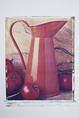Photograph - Orange Pitcher And Tomatoes by Garry Gay